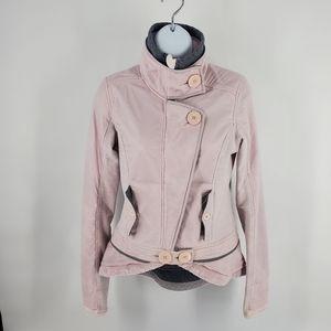 Lululemon Pedal Power Moto Jacket Neutral Blush Pink 4